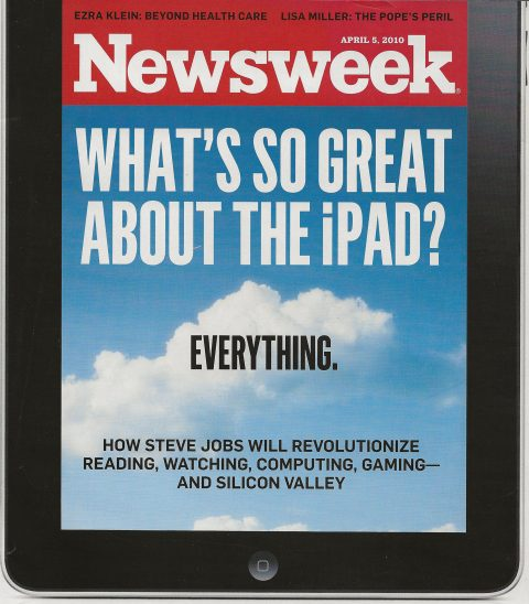 First iPad seen on the Newsweek Cover