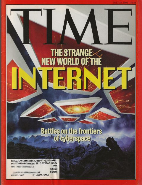 Time Cover - The Srange New World of the Internet